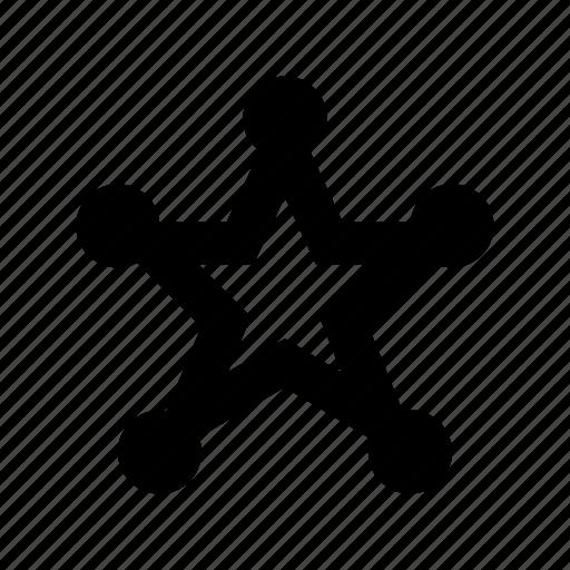 emblem, police badge, security badge, sheriff badge, star badge icon