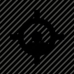 crosshair, focusing target, gun pointer, man target, target icon