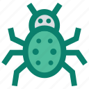 bug, protection, secure, security bug, virus icon