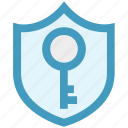 antivirus, key, protection shield, security, shield icon