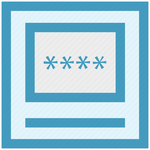 atm machine, banking, code, password icon