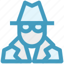 criminal, gangster, incognito, killer, robber icon