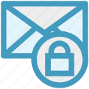 envelope, letter secure, lock, lock message, mail icon