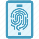 fingerprint, mobile, security, sensor, smartphone icon