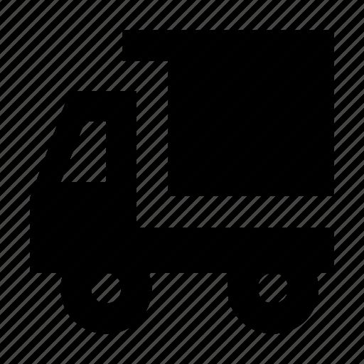 delivery van, dump truck, dump vehicle, pick up, van icon
