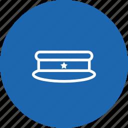 cap, hat, police, sheriff, uniform icon