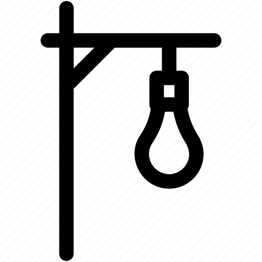 gallows, gibbet, hang rope, punishment, scaffold icon
