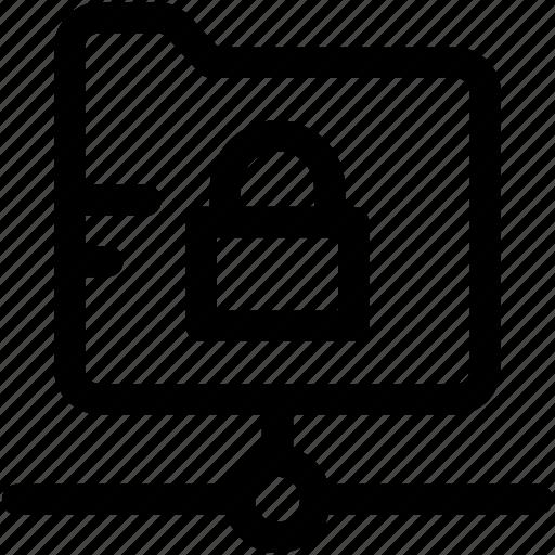 folder, folder security, folder shared, locked folder, protected document icon