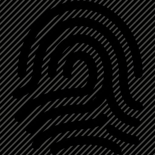 biometric, fingerprint, inspection, investigation, security icon