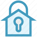 home insurance, house security, lock, lock house, security icon