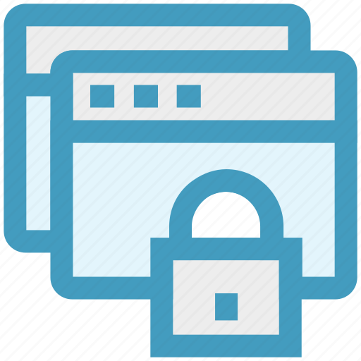 lock, pages, protection, safe, security icon