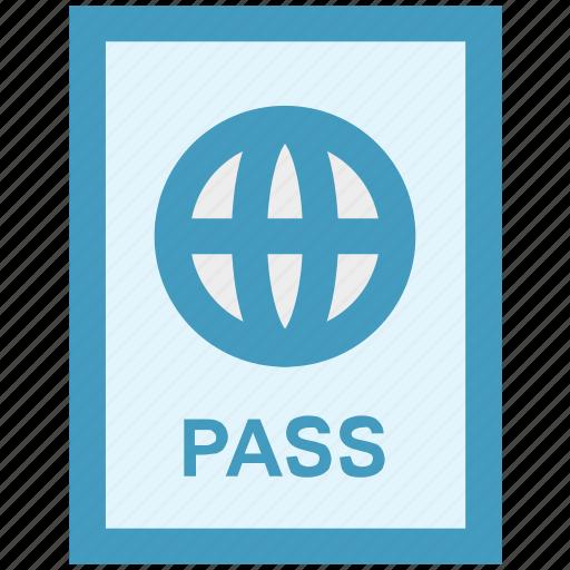documents, id, identification, passport, travel icon