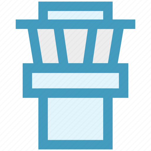 airport, building, security, security tower, tower icon