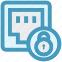 ethernet, internet security, lan port, lock, port, secure network