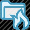 folder, folder antivirus, folder fire, password, security icon
