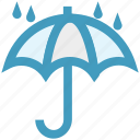 forecast, protection, rain, umbrella, weather, wet icon