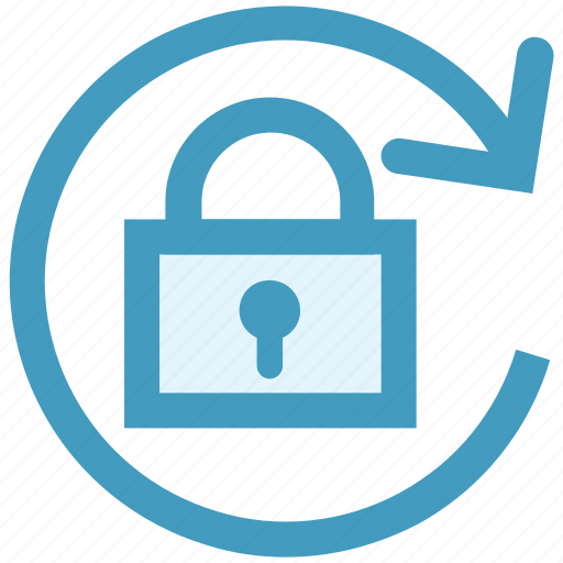 change lock, lock, security, sync, update password icon