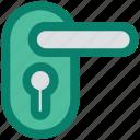 handle, handle lock, key lock, lock, room lock, safety icon