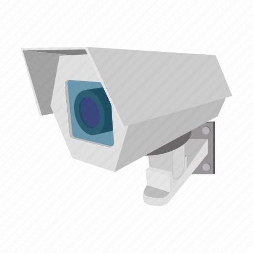 cartoon, equipment, lens, private, protection, security, system icon