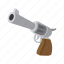 cartoon, gun, handgun, pistol, revolver, war, weapon icon