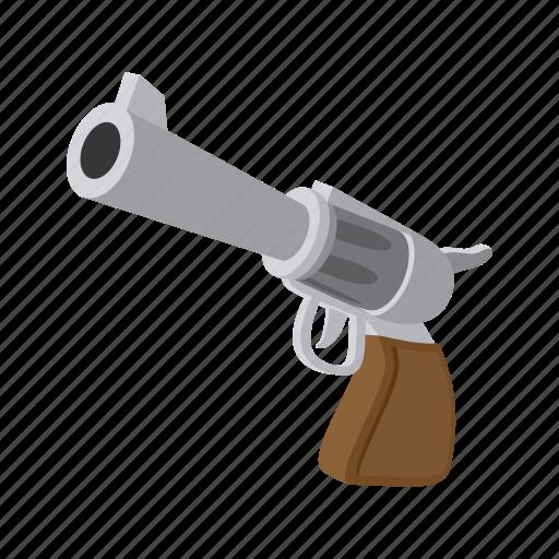 cartoon, gun, handgun, pistol, revolver, war, weapon icon