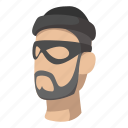 burglar, cartoon, crime, criminal, human, theft, thief icon