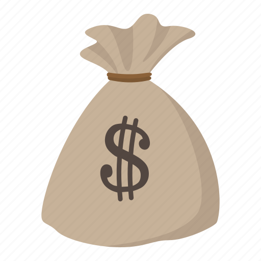 bag, cartoon, currency, dollar, full, money, sack icon
