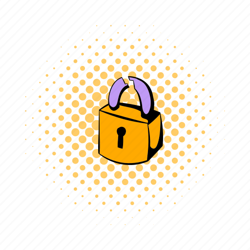 close, comics, lock, padlock, protection, secret, security icon