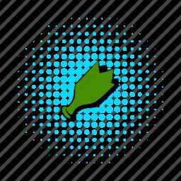 bottle, broken, comics, glass, sharp, transparent, weapon icon