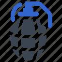 bomb, grenade, explosive, war, weapon, danger icon