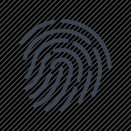 criminal, evidence, fingerprint, fingerprints, identification icon