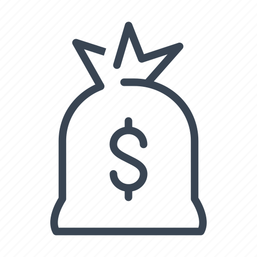 bag, bank, dollar, money, robbery icon