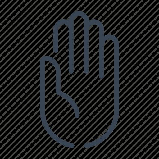 hand, honesty, oath, swear, witness icon