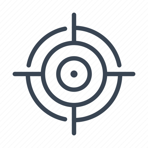 shoot, shooting, sniper, target icon