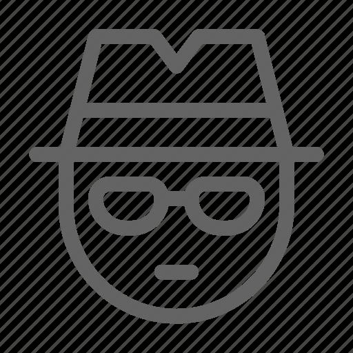 crime, detective, spy icon