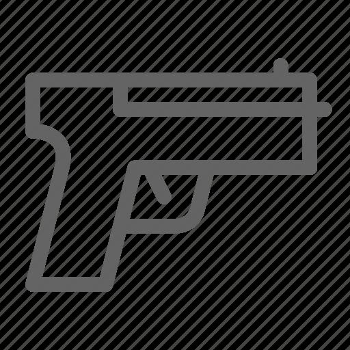 detective, handgun, pistol icon