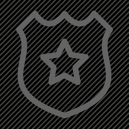 badge, police, sergeant icon