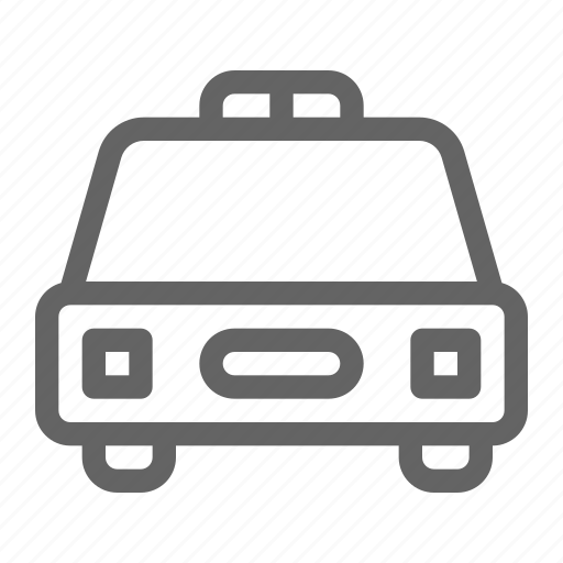 car, police, transportation icon