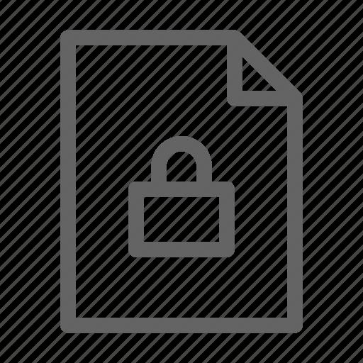 confindential, document, secret icon