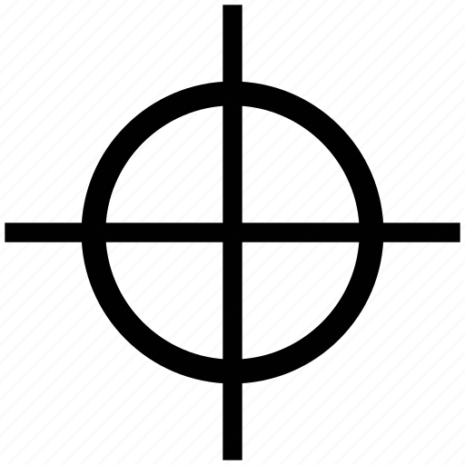 cross, crosshair, fireframe, midpoint, reticle, target icon