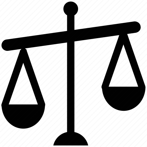 balance scale, court, justice, justice scale, law icon