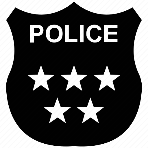 emblem, police, police badge, police department, police insignia icon