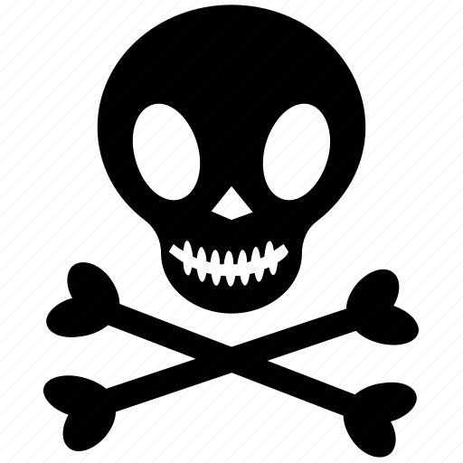 bones, danger, death, jolly roger, skull icon