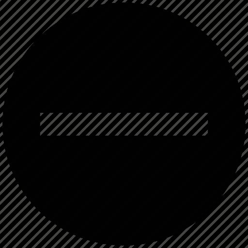cancel, circle, negative, remove, sign, subtraction icon