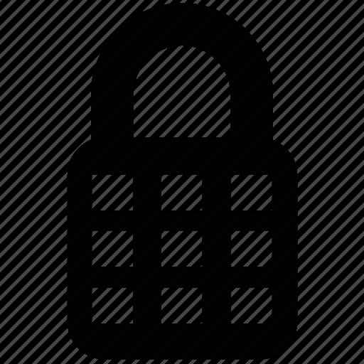 digital lock, keyless, keypad, lock, padlock, safe, secret icon