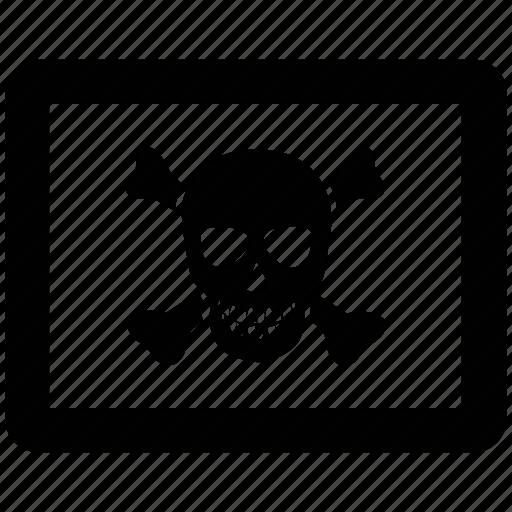 bones, cross bones, danger, death, jolly roger, skull icon