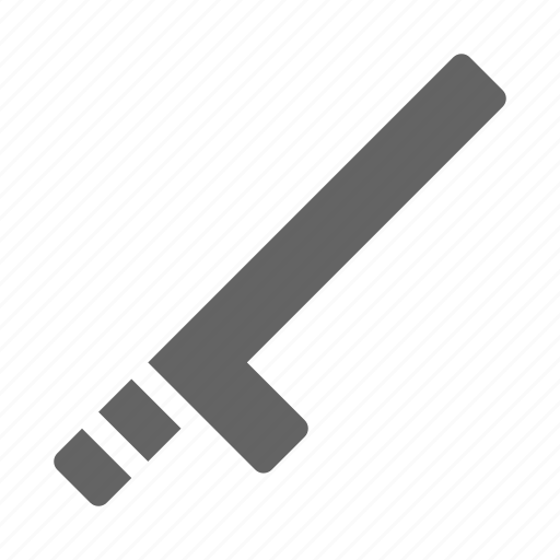 baton, police, security icon