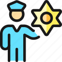 police, officer, badge