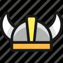 protection, helmet, viking
