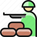 protection, sand, bag, soldier